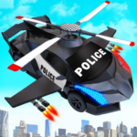 Flying Police Helicopter Car Transform Robot Games MOD 30