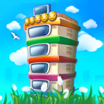 Pocket tower: building game MOD ( pack of 10 Tower Bux) 3.25.15
