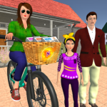 Working Mom Newspaper Girl Family Games MOD  1.20