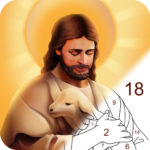 Bible Color – Paint by Number, Free Bible Games MOD 1.0.7 ( Bible Coloring Monthly Premium)