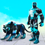 Flying Panther Robot Hero Game:City Rescue Mission MOD 3.4