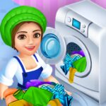 Laundry Shop Clothes Washing Game MOD 1.23