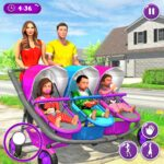 New Mother Baby Triplets Family Simulator MOD 1.2.5