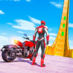 New Crazy Rope Spider Girl Bike Stunts Master 2021 MOD (Unlimited Coins) 2.0.3